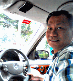 Kelvin Wong in his Mercedes-Benz E200